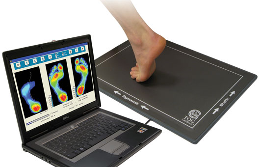 computerized foot imprint