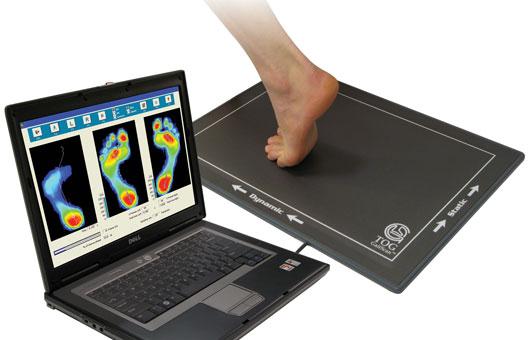 computerized foot imprint