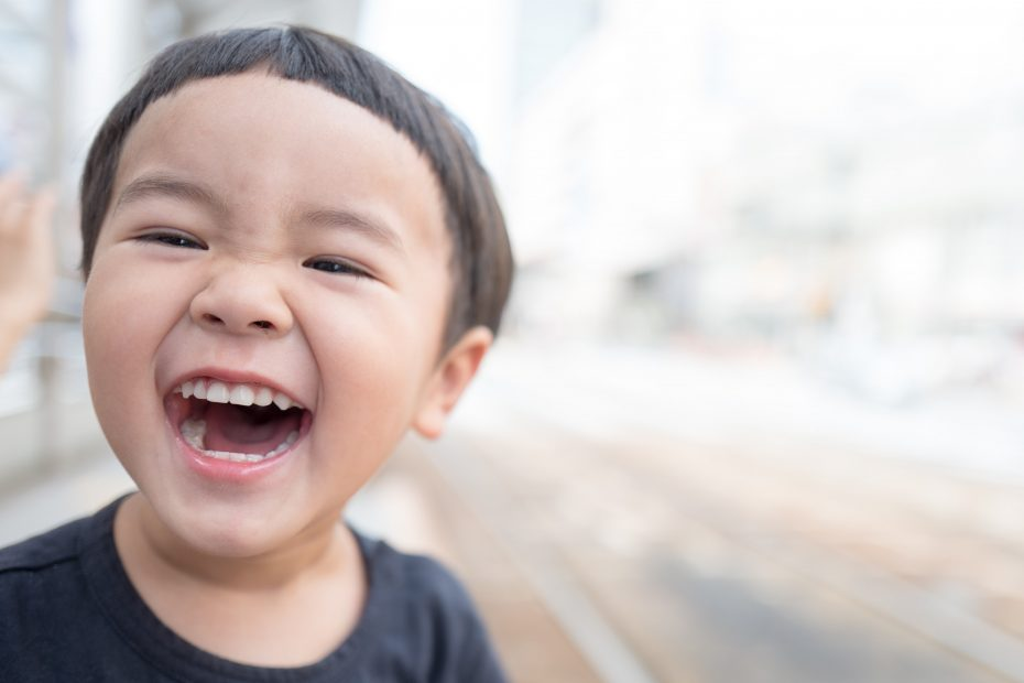 child with smiling face